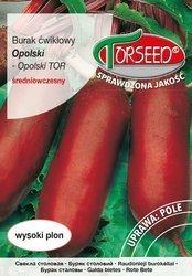 Burak ćwikłowy Opolski - nasiona na taśmie.